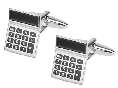 642-9R 3D Calculator Cufflinks Best Brands