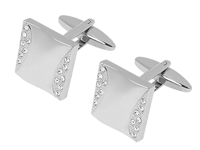 TN-1080R Crystal Cufflinks For Wedding