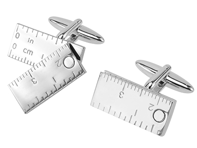 307-11R Functional Moveable Ruler Cufflinks Novelty