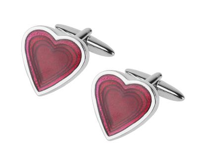 TN-1188R Best Valentine Gifts Red Heart Cufflinks