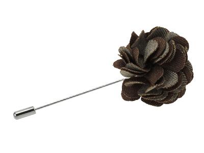 LP4-2R Brown Boutonniere Lapel Flower Pins