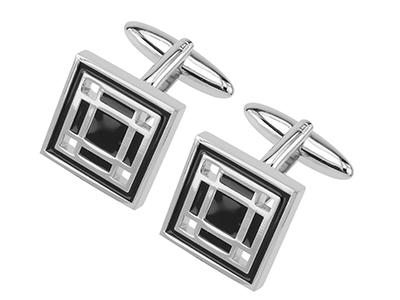 TN-598R Black Stone Custom Cufflinks