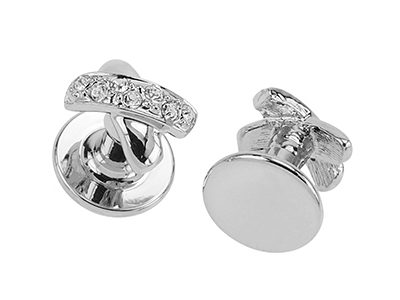 STTN-1502R Crystal Jewelry Cufflinks