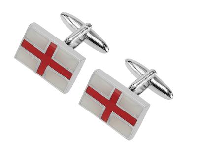 159-7R England St Georges Cross Flag Patriots Cufflinks