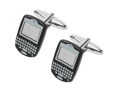 611-7R Mobile Phone Design Mens Cufflinks