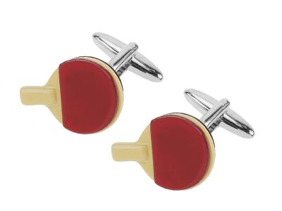 611-14R Mini Table Tennis Bat Sports Novelty Cufflinks