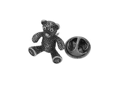 TP1-14 Metal Crystal Teddy Bear Suits Lapel Pin