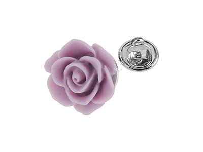 TP1-9R Men Lapel Purple Rose Flower Pins