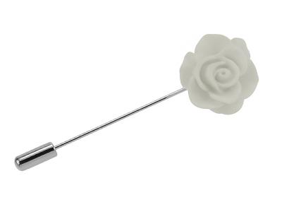 TN-2099R White Rose Boutonniere Lapel Flower Pins