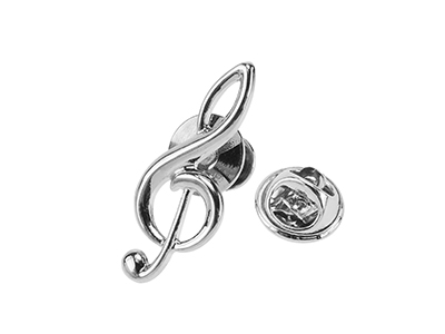 TP58-22R Silver Novelty Gold Music Lapel Pins