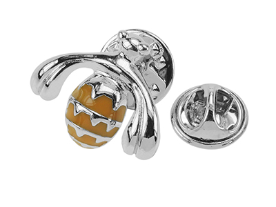 648-19R Silver Metal Bee Lapel Pins