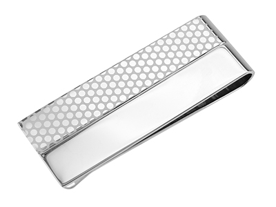 MC1-19R2 #324 Polished and Dotted Money Clip