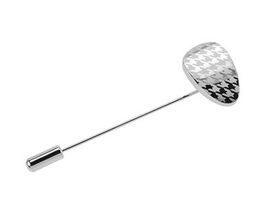 619-15R2/LP Silver Best Men Lapel Pin