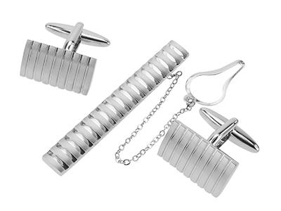 TN-2322R1+142-2R1 Brushed Silver Stripes Sets