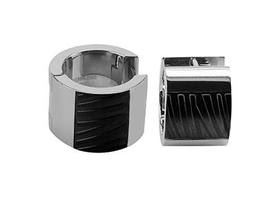 R7-COM-10 Stainless Steel Zebra Texture Rings