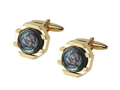 1874-14G1 Semi-precious Stone Abalone Cufflinks