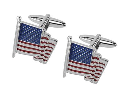 656-9R USA American Flag Cufflinks