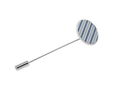 LP56-8R 3D Printed Long Needle Round Lapel Pins