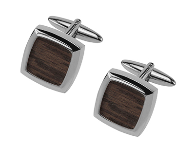 630-22R Classic Wood Cufflinks