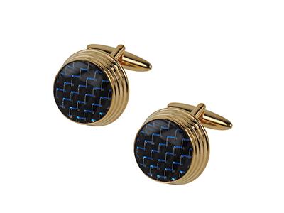 662-12G New Fashion Carbon Fiber Cufflinks