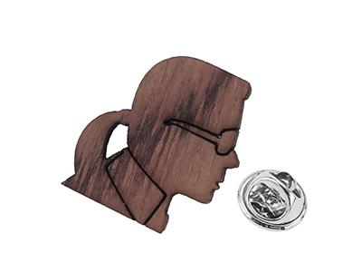 TP63-7R Wooden Little People Tie Tacks