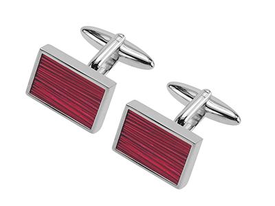 646-10R Bulk Custom Red Enamel Cufflink