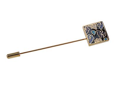 TN-1507G/LP Square Autumn Maple Leaf Lapel Pin