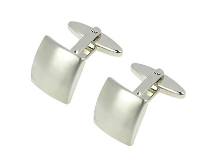 150-1R1 Metal Shirt Cufflink Blank