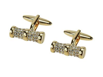 1873-9G Man Wed Luxury Crystal Cufflink