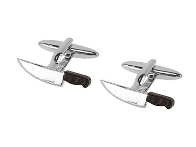 1871-1R Enamel Unique Novelty Knife Cufflinks