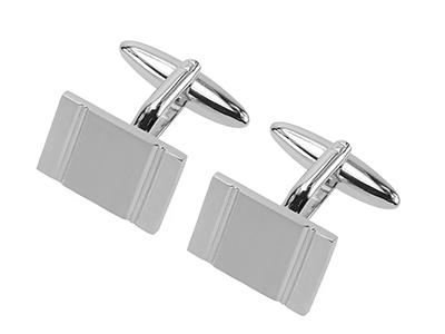 635-12R Silver Shirt Cufflinks
