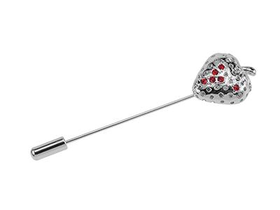648-10R/LP Long Needle Strawberry Lapel Pin