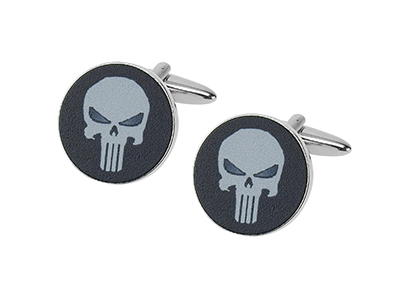669-20R Punisher Skull Novelty Men Cufflinks