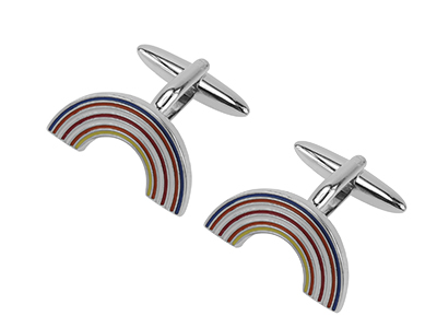 628-20R New Novelty Rainbow Male Cufflinks