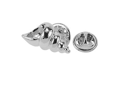 648-20G/TP Conch Ocean Design Metal Lapel Pin