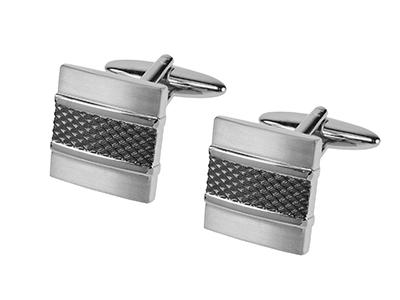 668-3RGM1 Metal Mens Cufflinks