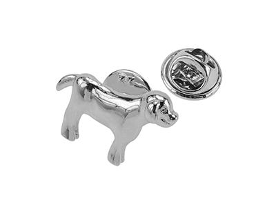 TP54-10R Dog Metal Lapel Pin