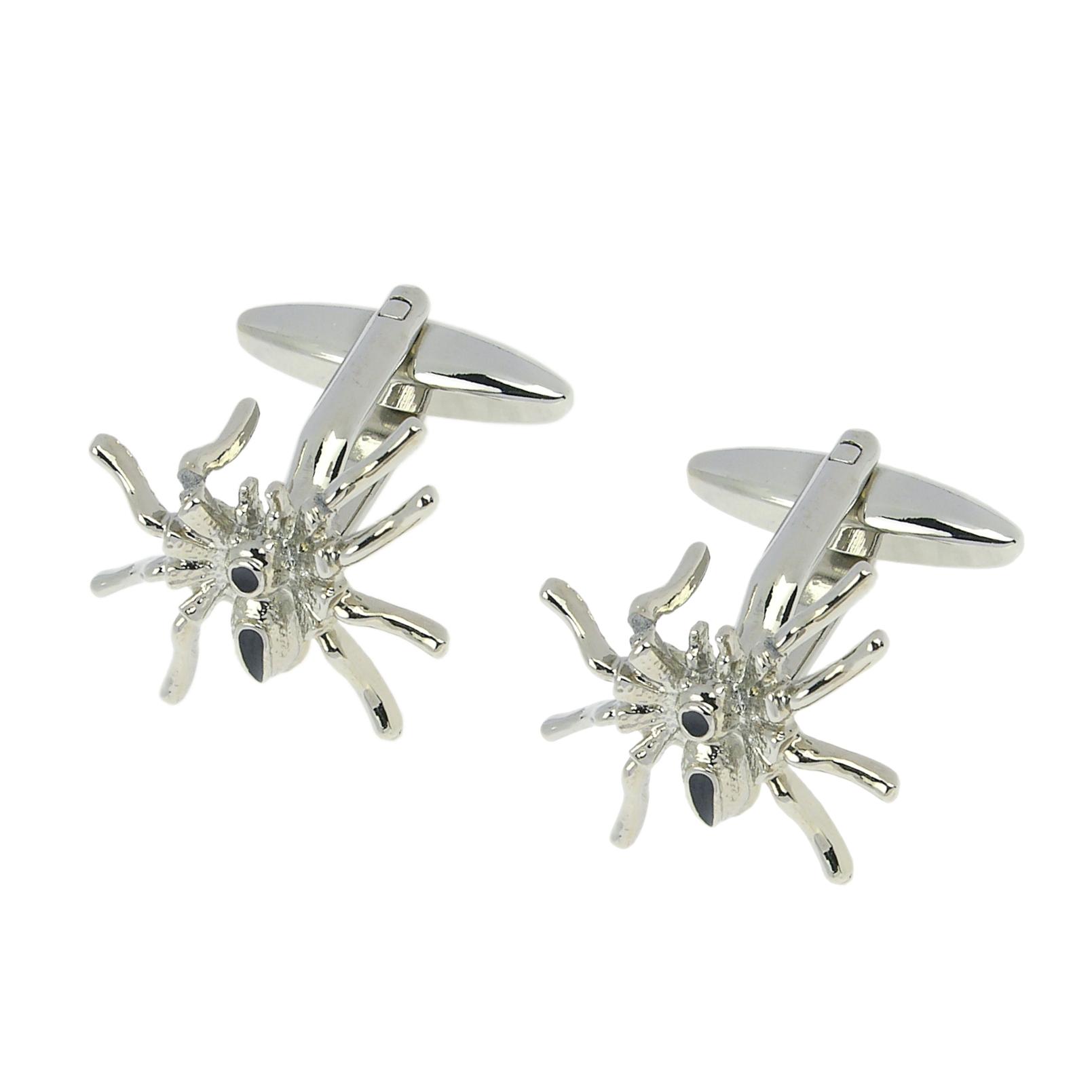 243-14R Silver Spider Cufflinks