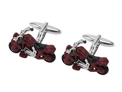 642-10R Motorcycle Cufflinks