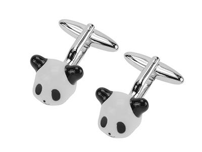 1867-24R Panda Cufflinks