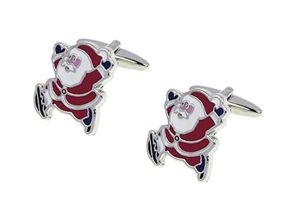 1451-14R Santa Claus Cufflinks