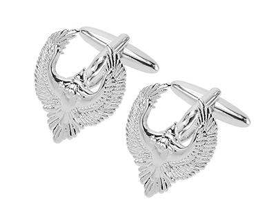 1868-8R Silver Eagle USA Shirt Cufflinks