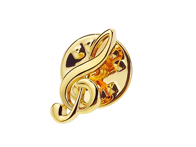 TP59-4G Musical Instrument Gold Music Note Lapel Pins