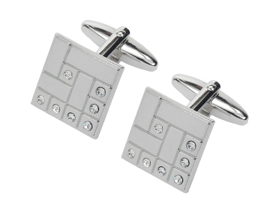 311-30R Classic Shiny Square Cufflinks