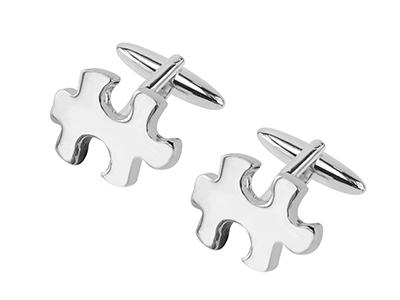 198-17R Novelty Jigsaw Cufflinks