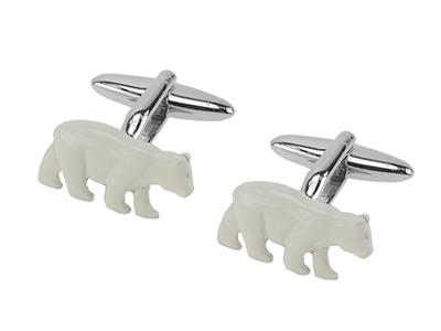 1869-10R Polar Bear Cufflinks