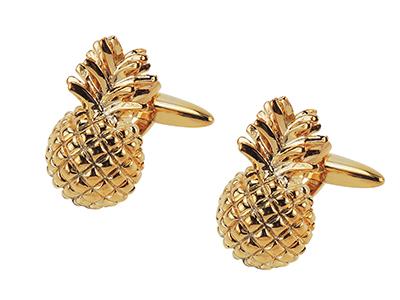 666-2G Pineapple Cufflinks