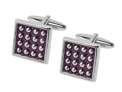 655-8R Purple Enamel Cufflinks