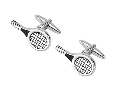 213-26R Tennis Racquet Cufflinks