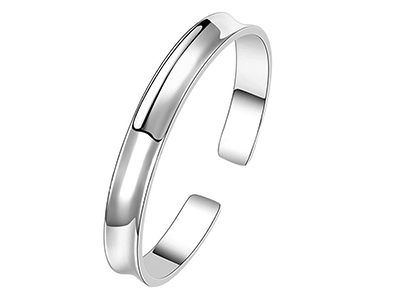 SSB0154R2 Mens Stainless Steel Brushed Groove Bangle